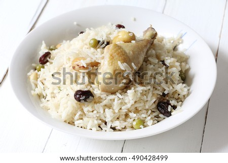 Chicken pulao, North Indian dish