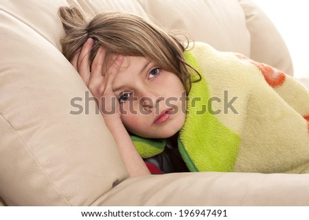 child headache  - stock photo