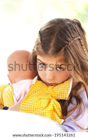 Children's sad face - stock photo