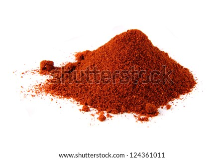 chili spice isolated on the white background