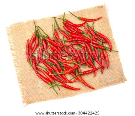 chilli on a white background. - stock photo
