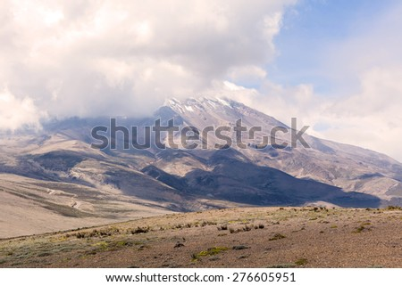 Chimborazo volcano, south america  - stock photo