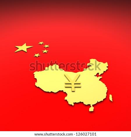 China, map - stock photo
