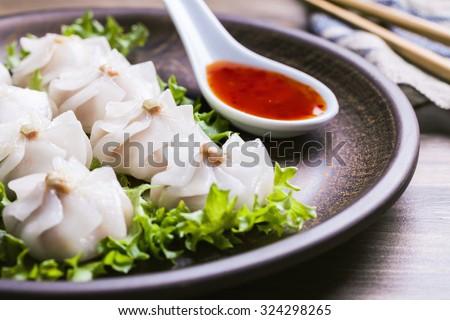 Chinese Steamed dumplings dimsum  - stock photo