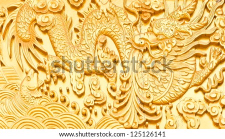 (Chinese style wood carving), which is part of the door in temple Tham Khao noi     Kanchanaburi, Thailand (in Thailand, temple is a public place).