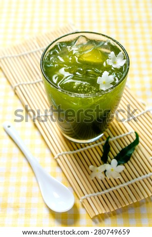 Chlorophyll Drink for detoxification - stock photo