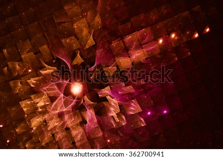 chocolate geometric abstract background. Texture with glare, blurred, interesting color transitions.It conveys a sense of magic and celebration.