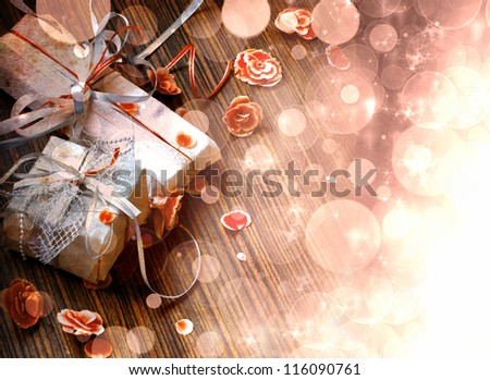 christmas background/Lights on dark background/valentines day background - stock photo