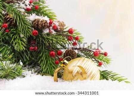 Christmas ball and Christmas background  - stock photo