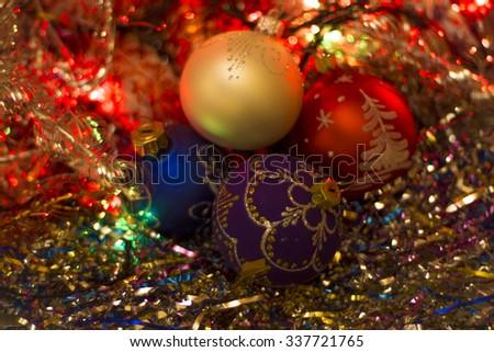 Christmas balls #2 - stock photo