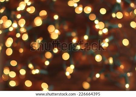 christmas bokeh lights - stock photo