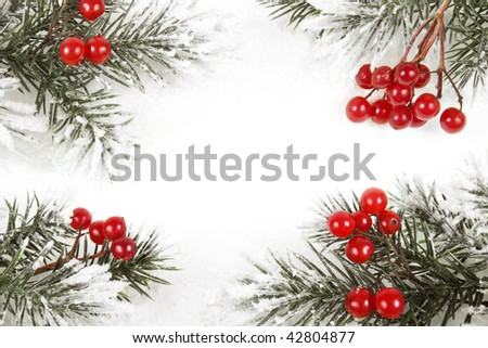 christmas card with copyspace for your text - stock photo