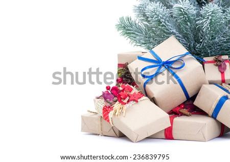 Christmas Decoration , Isolated on white background - stock photo