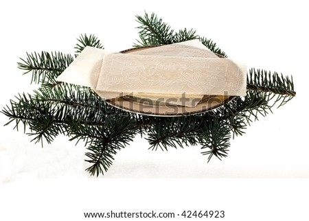 Christmas Eve wafer - stock photo