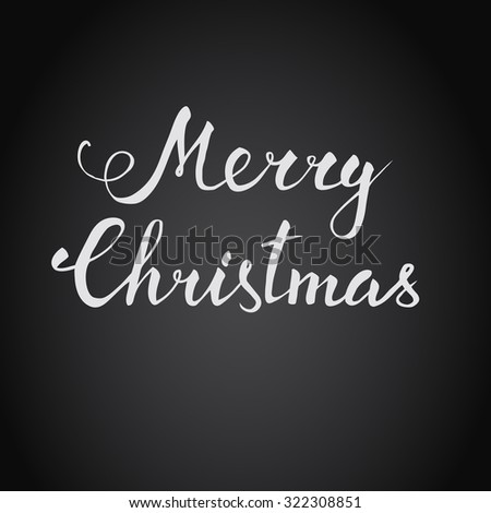 Christmas holidays vector hand lettering. Raster version - stock photo