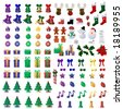 110 Christmas Icons  is original artwork. - stock photo