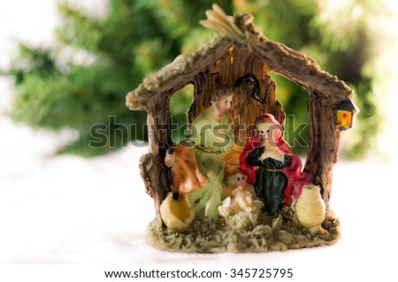 Christmas Nativity,Christmas background - stock photo