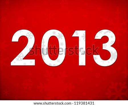 2013 Christmas red background