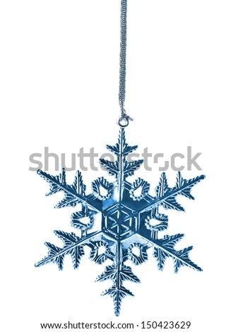 Christmas Snowflake Star. isolated on white background  - stock photo