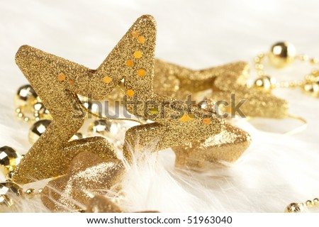 Christmas stars - stock photo