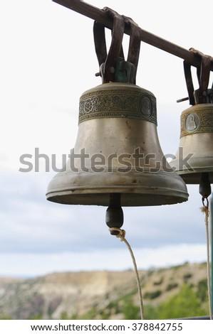 church bells closeup, local focus, shallow DOF  - stock photo