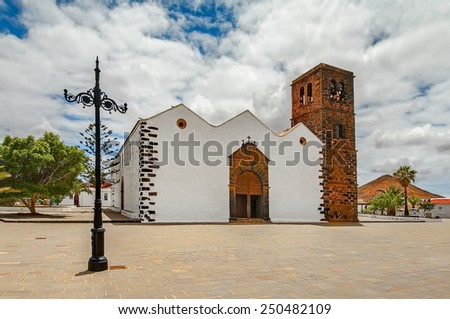 Church of Our Lady of Candelaria in La Oliva, Fuerteventura, Canary Islands, Spain - stock photo