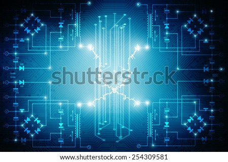 circuit board background texture - stock photo