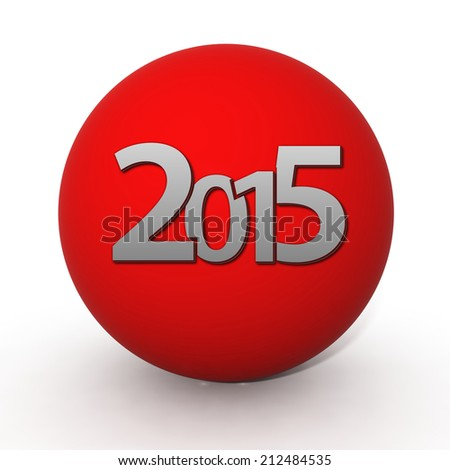 2015  circular icon on white background