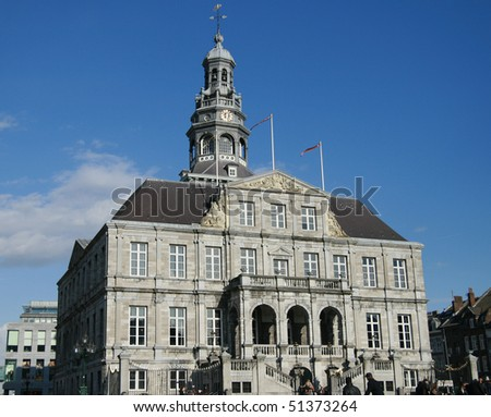 """city hall-maastricht Holland-Europe"" - stock photo"