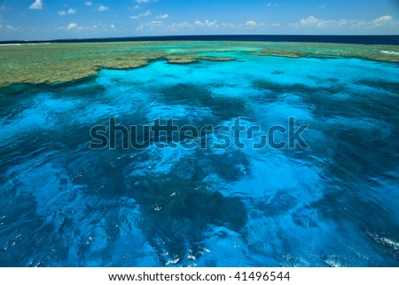 Clam Gardens at the Great Barrier Reef Marine Park - stock photo