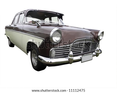 1961 Classic car isolated with clipping path - stock photo