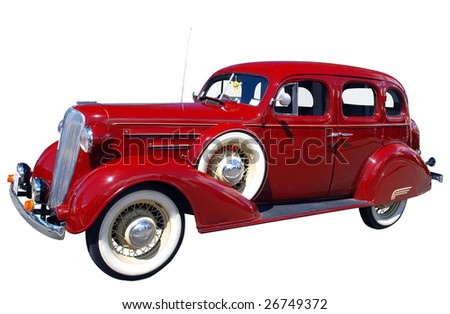 1936 Classic isolated with clipping path - stock photo