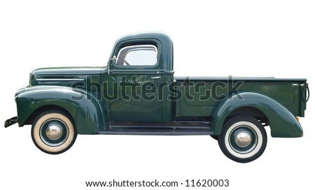 1948 Classic Pick Up Isolated with clipping path - stock photo