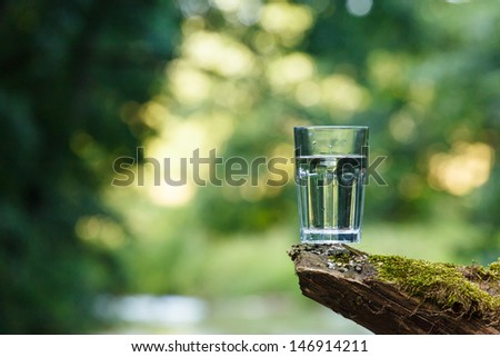 Clean water (healthy concept) - stock photo