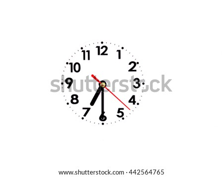 07:30 clock on Background