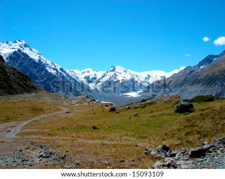 Close to Mt. Cook - stock photo