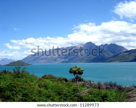 Close to Queenstown - stock photo