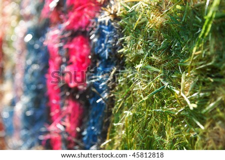 Close-up barn on columns outdoor cereal texture paint colors - stock photo