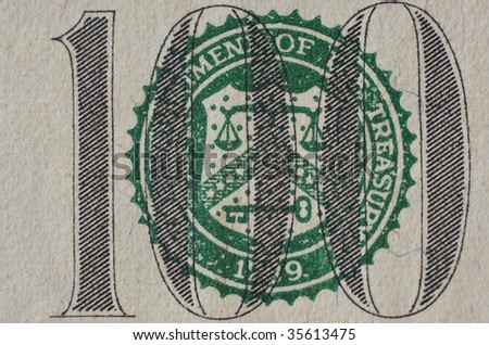 Close-up of a $100 banknote - stock photo