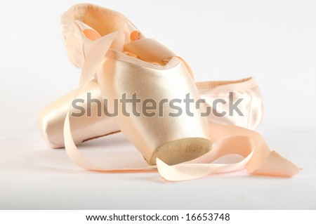 Close-up of ballet pointe