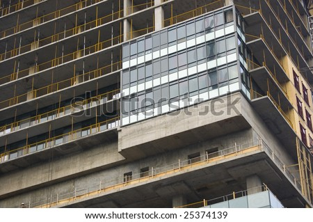 close up of   building under construction / abstract building background