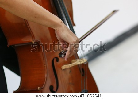 close up of cello player solo performance