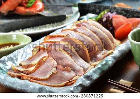 Close up of  duck meat - stock photo