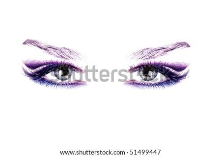 Close-up of eyes - stock photo