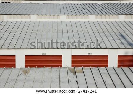 close up of  garage arrangement /  industrial background - stock photo