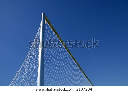 #3 Close up of Goal net with area for copy. - stock photo