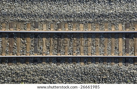 close up of  railway track /  industrial background