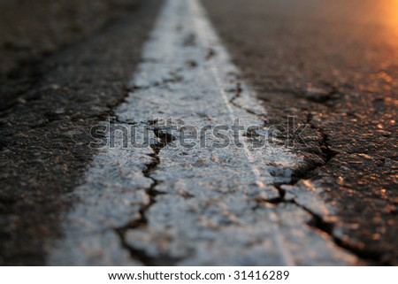 close-up of road - stock photo