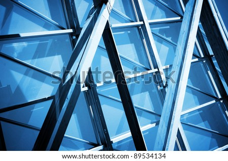 close up of  steel contraction structure abstract technology background ,