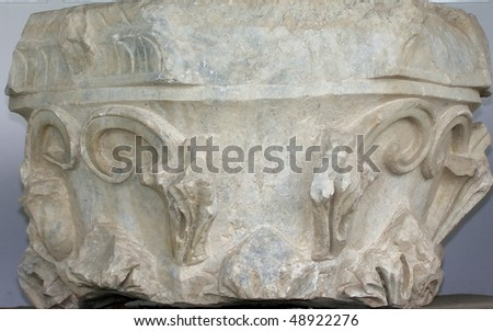 Closeup Ionic column Byzantine era (IV) - stock photo